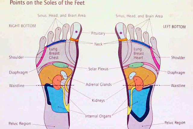 Acupressure points on feet, English