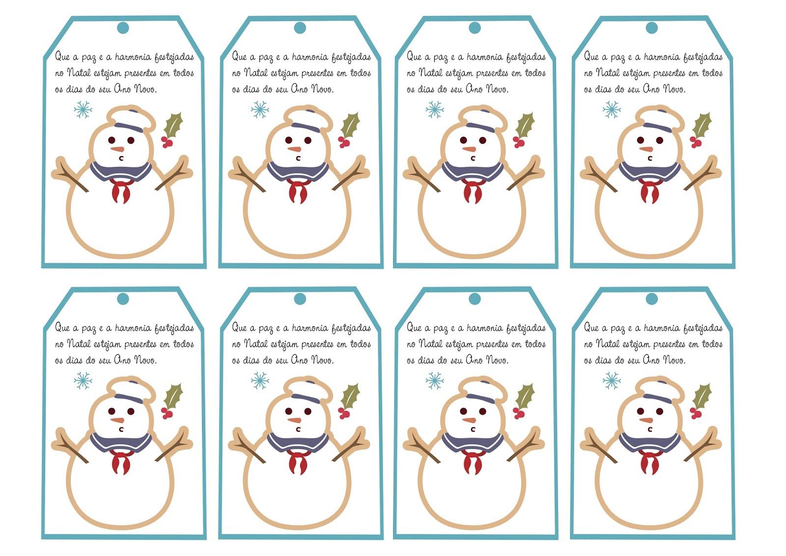 Populares Cartões de Natal para Imprimir com Mensagens. - Aprender e Brincar TP98