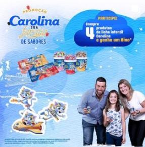 Promoção Sua Família de Sabores Carolina Ganhe Brinde Boneco Nino