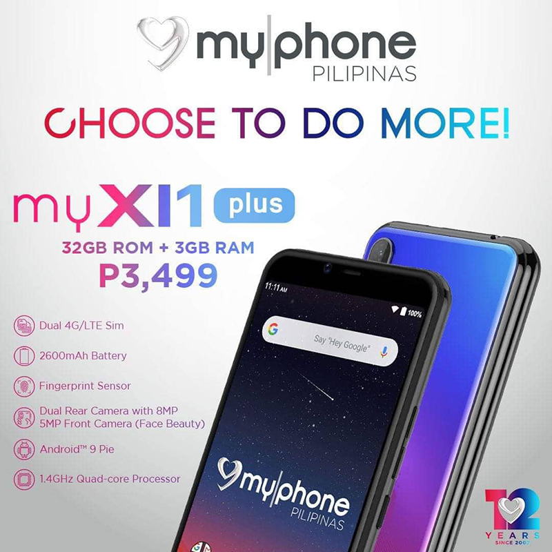 MyPhone releases myXI1 Plus 3GB/32GB variant, priced at PHP 3,499