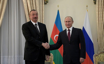 Vladimir Putin had a meeting with President of Azerbaijan Ilham Aliyev in Tehran.