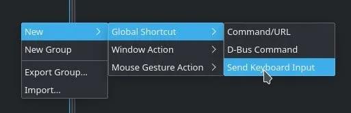 مفاتيح Remap Kde New Shortcut Pop Up