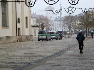 Bundespolizei am Stadtplatz Traunstein