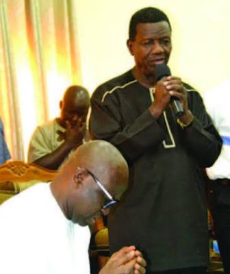 Ayodele Fayose. and Pastor Enoch Adeboye