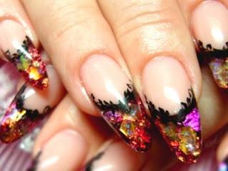 Акриловые ногти гелевым покрытием