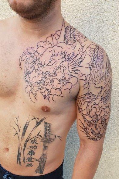 Dragon Tattoo on Shoulder
