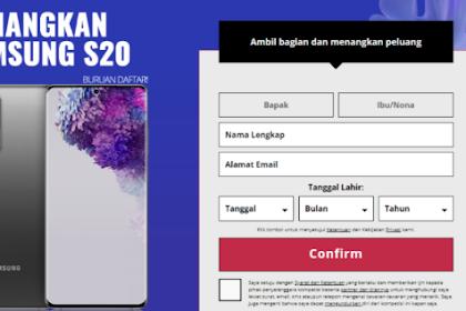 Samsung Galaxy S20 Baru! Dapatkan Gratis promo saat ini, Plus uang belanja dari Tokopedia
