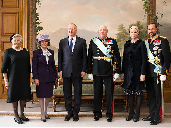 King Harald V and Queen Sonja of Norway, Crown Prince Haakon of Norway and Crown Princess Mette-Marit of Norway