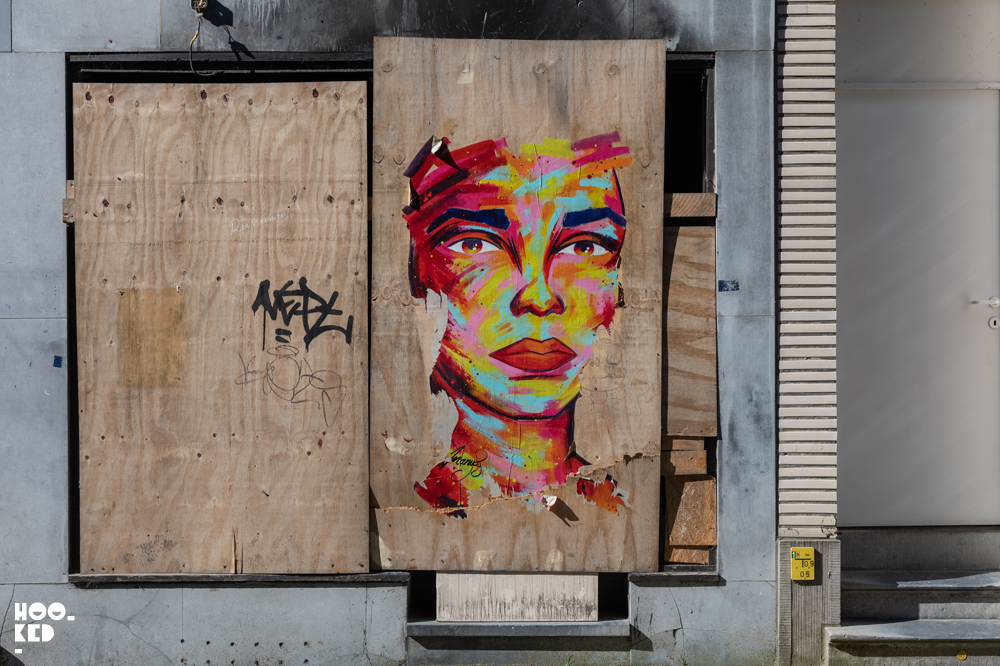French Street Artist Manyoly in Ostend, Belgium