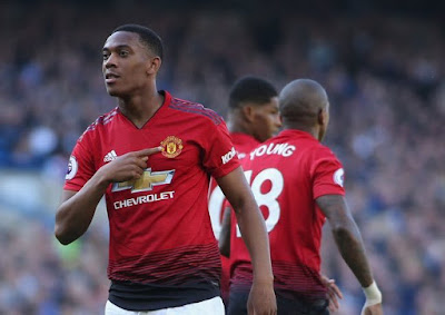 Martial rocket lifts resurgent United into fourth place