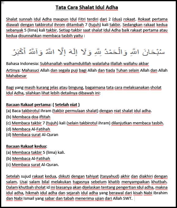 gambar cara melakukan sholat idul adha lengkap