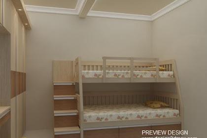 Design kamar tempat tidur susun unik berlaci