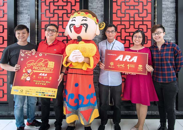Win Gold Bars - 'Golden Prosperity' CNY Campaign @ ARA Malls