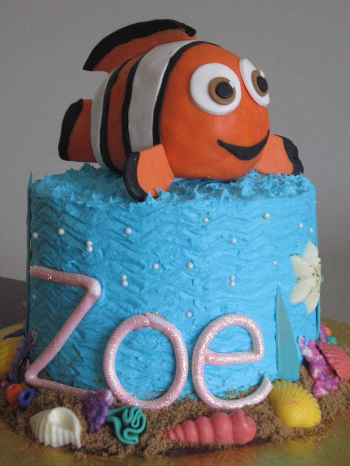 nemo cake template - pin finding nemo smash cake very small for a two year old
