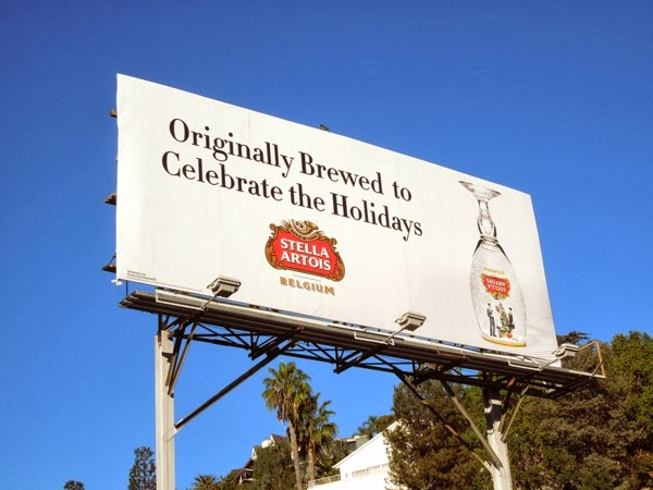 Stella Artois celebrate the Holidays billboard