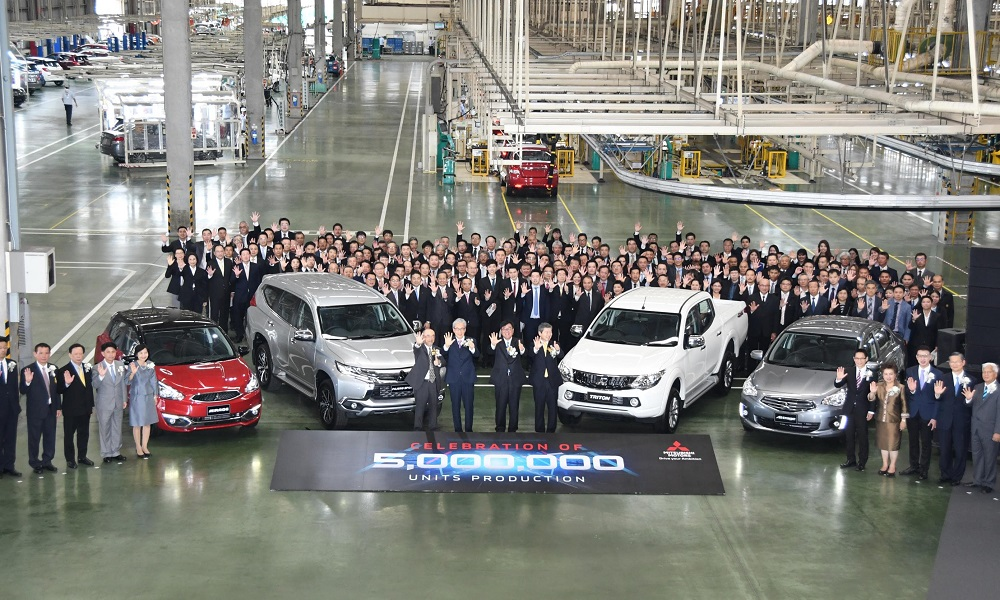 Mitsubishi marks 5 million units production milestone in Thailand