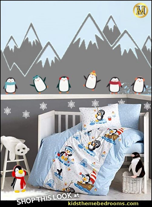 penguin nursery decor penguin nursery bedding arctic animals Penguin Nursery Baby Bedding penguin wall decals Arctic Baby Crib Bedding