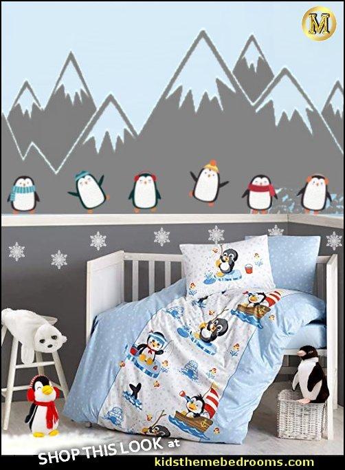 penguin nursery decor penguin nursery bedding arctic animals Penguin Nursery Baby Bedding penguin wall decals Arctic Baby Crib Bedding