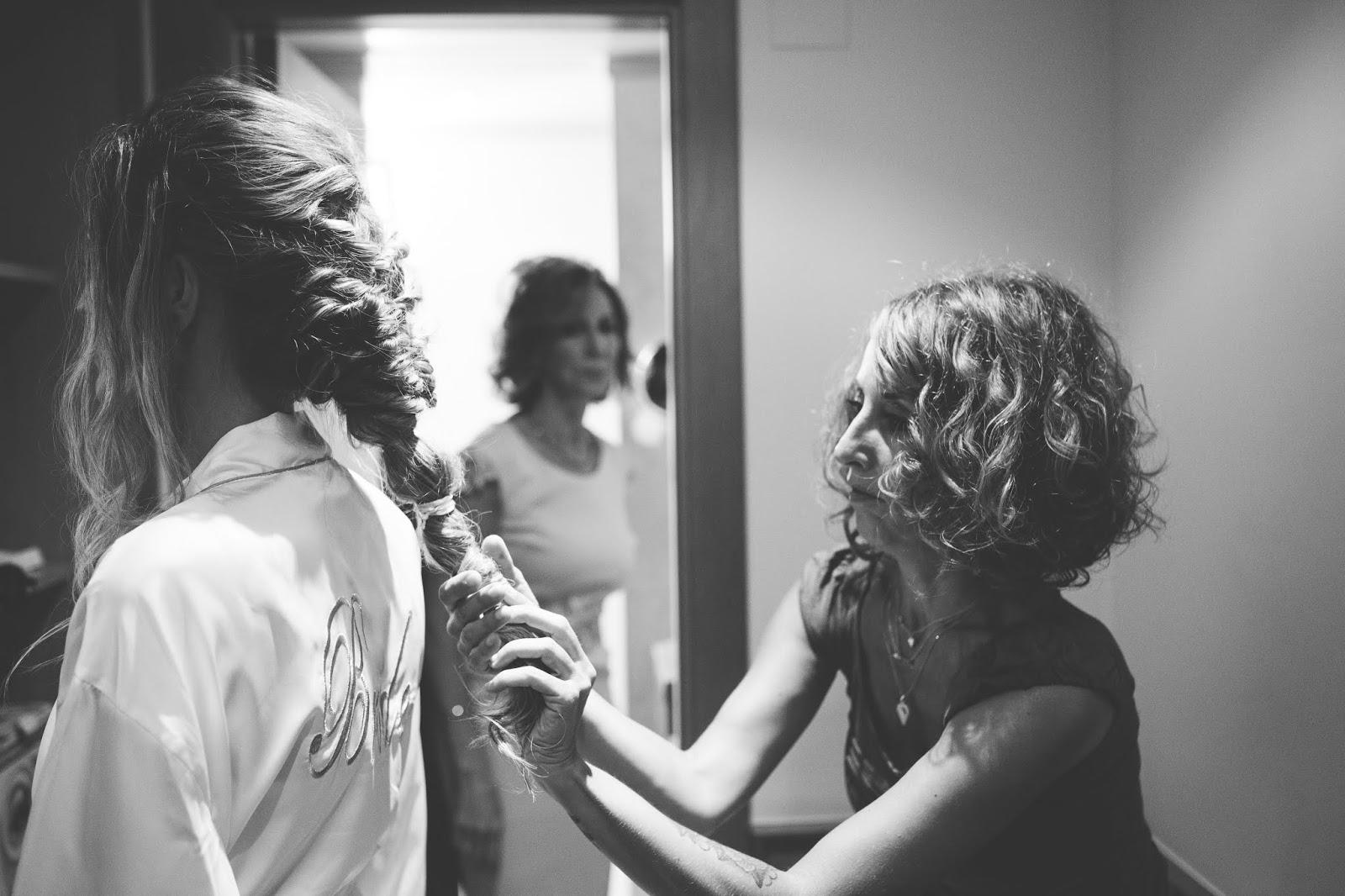 recogido novia pelo largo