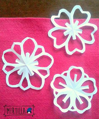 fiore 5 petali origami papercutting