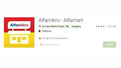 Nama aplikasi baru alfamart 2021