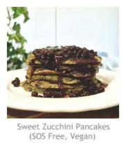 Sweet Zucchini Pancakes (SOS Free, Vegan) at Pieced Pastimes