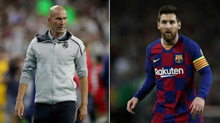 Real Madrid boss Zidane reacts to Lionel Messi's Barcelona exit talks