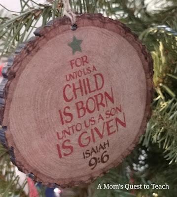 For Unto Us a Child is Born Ornament