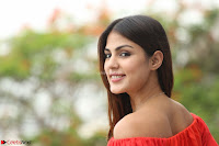 Rhea Chakraborty in Red Crop Top and Denim Shorts Spicy Pics ~  Exclusive 185.JPG
