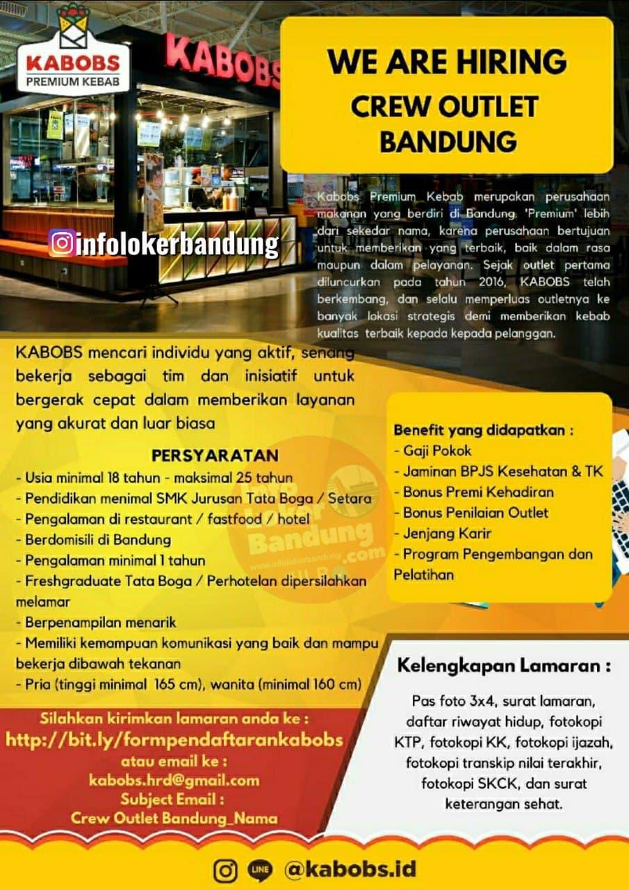 Lowongan Kerja Crew Outlet Kabobs Bandung Desember 2020