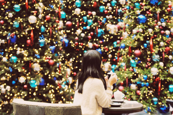 Christmas in San Francisco: Enjoy high tea, or just a beverage, at the Garden Court restaurant inside the iconic Palace Hotel