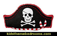 pirate hat throw pillow   pirate bedrooms - pirate themed furniture - nautical theme decorating ideas - pirate theme bedroom decor - Peter Pan - Jake and the Never Land Pirates - pirate ship beds - boat beds - pirate bedroom decorating ideas - pirate costumes