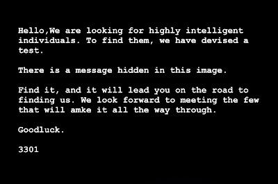 Cicada 3301 1st Message