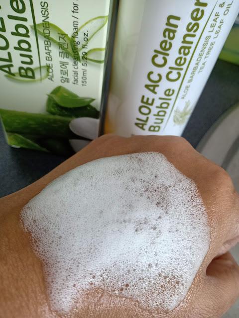 ALOE AC Clean Bubble Cleanser Pencuci Muka Untuk Semua Jenis Kulit