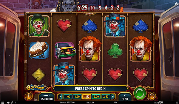 Main Gratis Slot Indonesia - 3 Clown Monty Play N GO