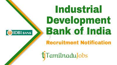 IDBI Recruitment 2019, IDBI Recruitment Notification 2019, Latest IDBI Recruitment update