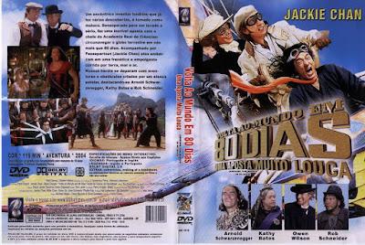 Filme Volta ao Mundo em 80 Dias - Uma Aposta Muito Louca (Around the World in 80 Days) DVD Capa