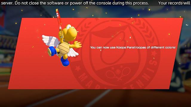 Mario Tennis Aces Blue Koopa Paratroopa