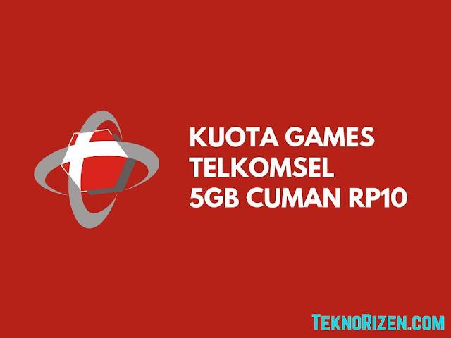Cara Beli Kuota Games Telkomsel 5GB Cuman Rp 10 Terbaru