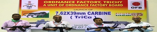 Ordnance Factory In TN Launches High-Tech Carbine 'TriCa'