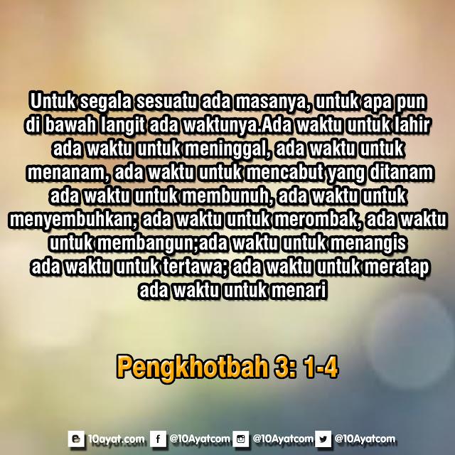 Pengkhotbah 3: 1-4
