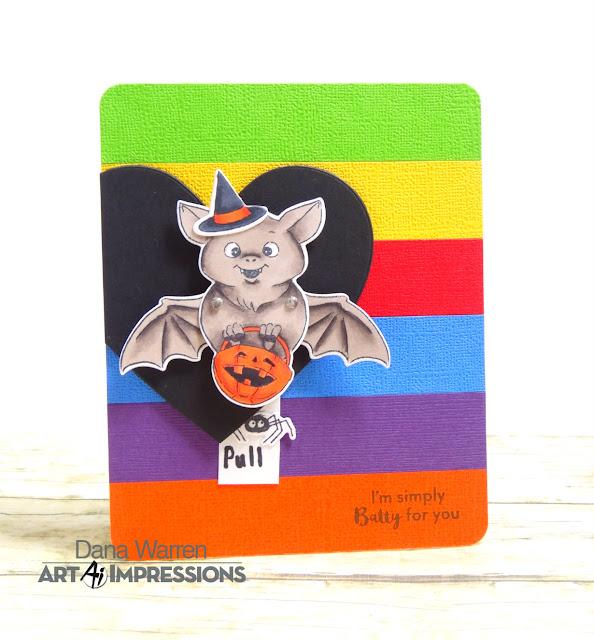 Dana Warren - Kraft Paper Stamps - Art Impressions - Interactive Halloween