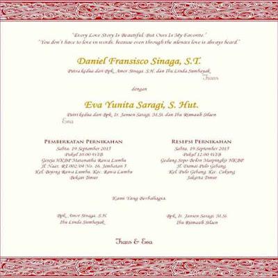 contoh undangan pernikahan kristen 3