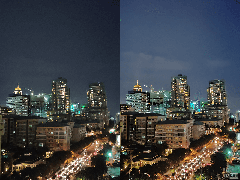 Normal vs Nightscape (night) mode