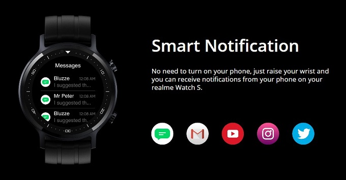 Realme Watch S Notifications What Apps Are Supported