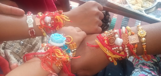 wrist of my brothers after rakhi