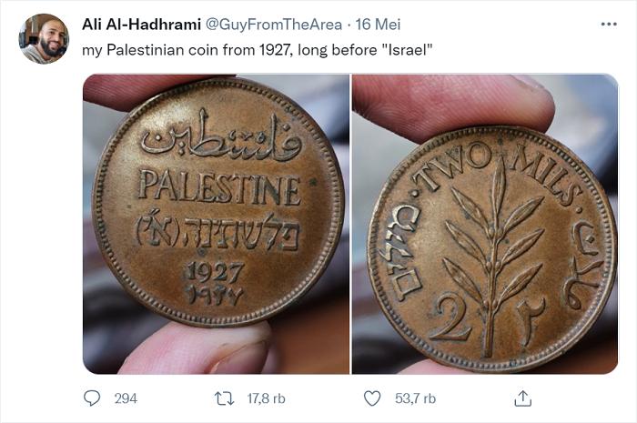 Lihat Nih! Uang Koin Kuno Ini Jadi Bukti Eksistensi Palestina Sudah Ada Jauh Sebelum Israel, Benarkah?