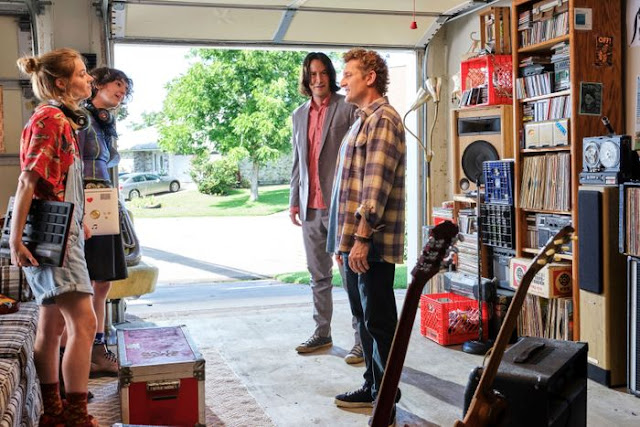 Samara Weaving, Brigette Lundy-Paine, Keanu Reeves, and Alex Winter in Bill & Ted Face the Music Photo: Patti Perret/Orion Pictures/