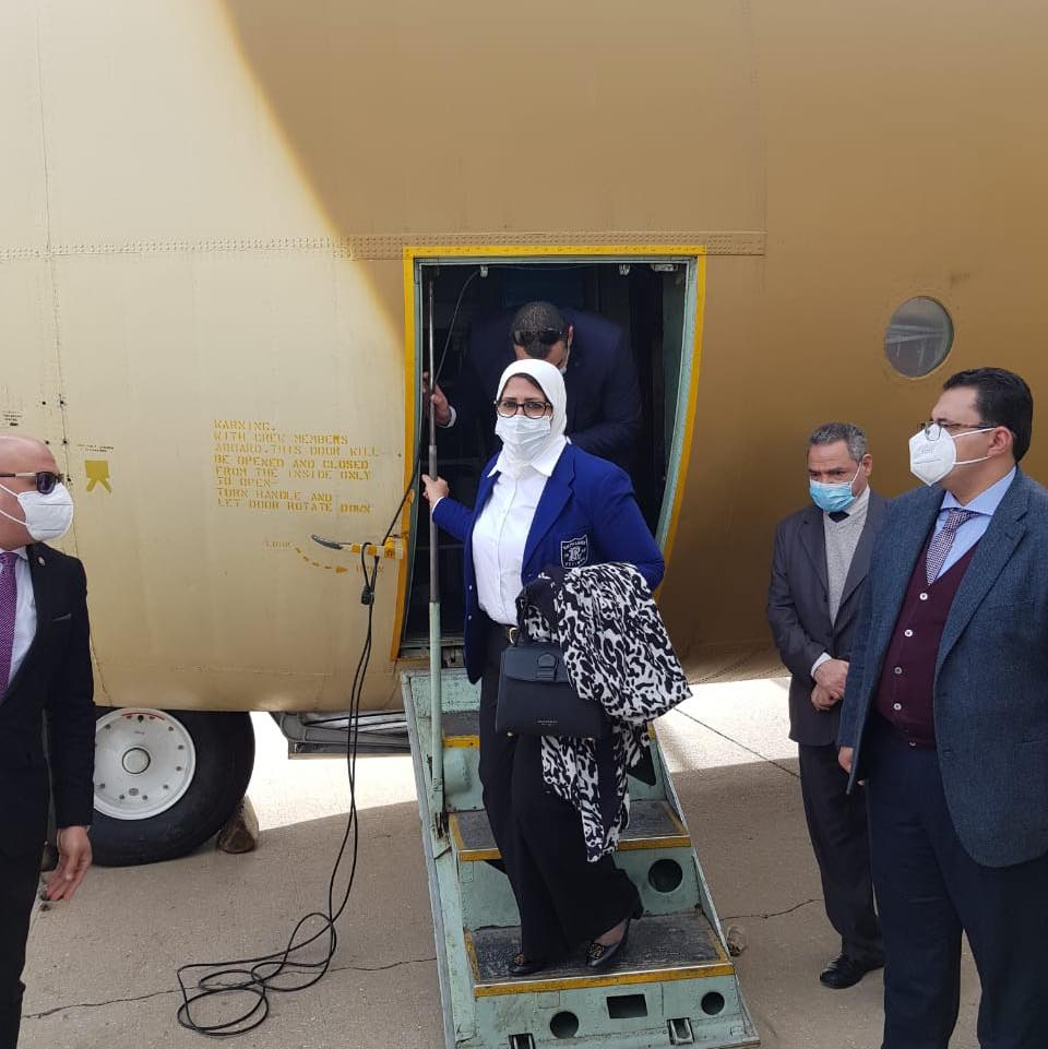 Dr. Hala Zayed, Minister of Health and Population, arrives in Beirut accompanied by shipments of aid to support the health sector in Lebanon during the response to the Corona pandemic