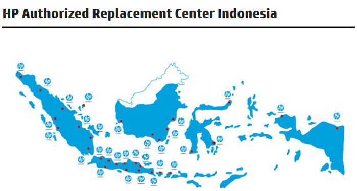 Alamat HP Authorized Replacement Center Indonesia